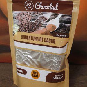 Cobertura de Cacao 100 % sin azúcar